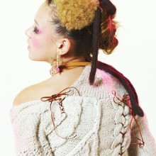 Knit sweater back style